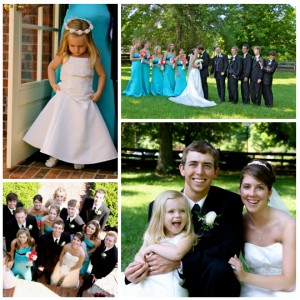Weddings with flower girls and Bridal party photography