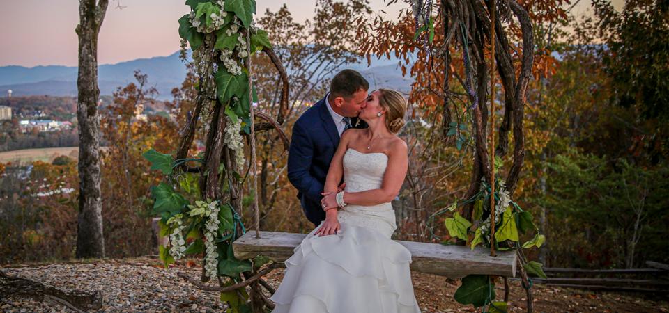 Lauren + Ken   Hidden Mountain Resort  The Lodge and Prayer Garden   Sevierville, TN Photographer