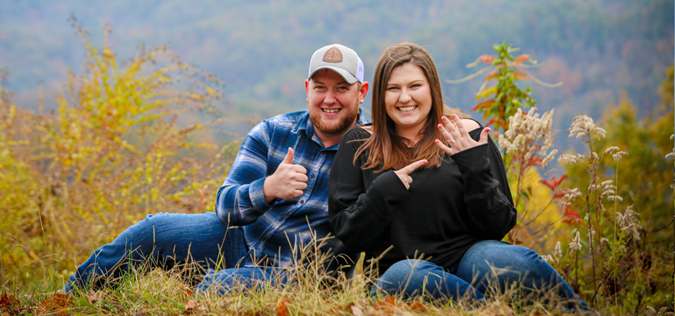 Collin + Kristlyn's Surprise Marriage proposal on the Foothills Parkway | Gatlinburg TN Photographer