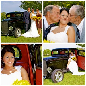 wedding old car with grandpa fall theme photography photographer