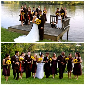 wedding bridal party photography